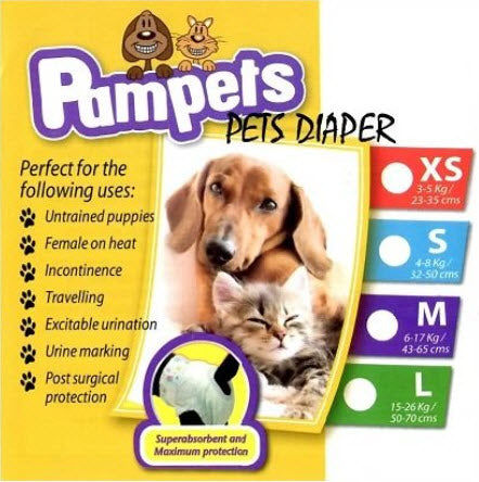 PamPets Pet Diaper for Dogs and Cats