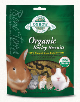 Oxbow Organic Barley Biscuit For Small Animals