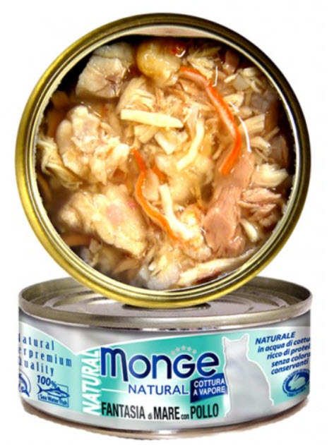 Monge Natural Seafood Mix with Chicken Canned Food for Cats