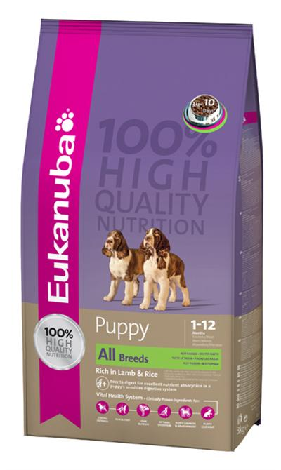 Eukanuba Puppy Natural Lamb and Rice Dry Dog Food