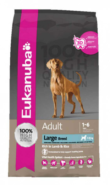 Eukanuba Large Breed Adult Natural Lamb and Rice Dry Dog Food