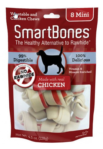 SmartBones Rawhide-free Chicken Flavor Mini Dog Chews