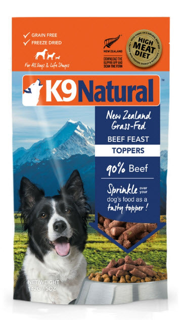 K9 Natural Freeze Dried Beef  Feast Topper