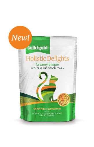 Solid Gold Holistic Delights Crab & Coconut Milk Pouch Cat Food