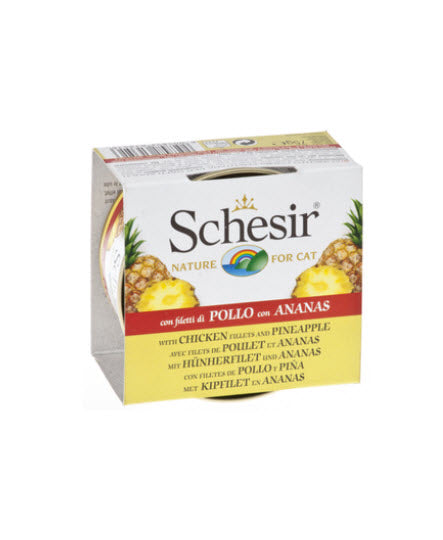 Schesir Chicken Fillet and Pineapple Canned Cat Food