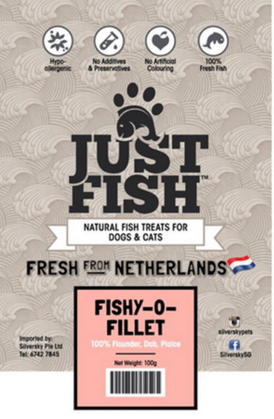 Just Fish Fishy-O-Fillet Dog Cats Pet Treats