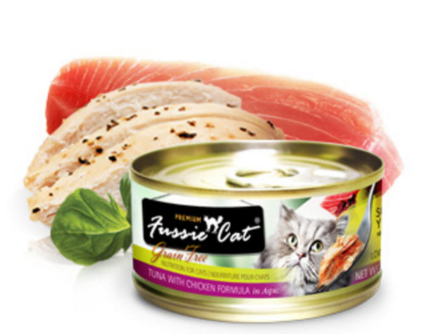 Fussie Cat Premium Tuna With Chicken Canned Cat Food