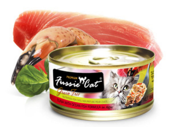 Fussie Cat Premium Tuna With Ocean Fish Canned Cat Food