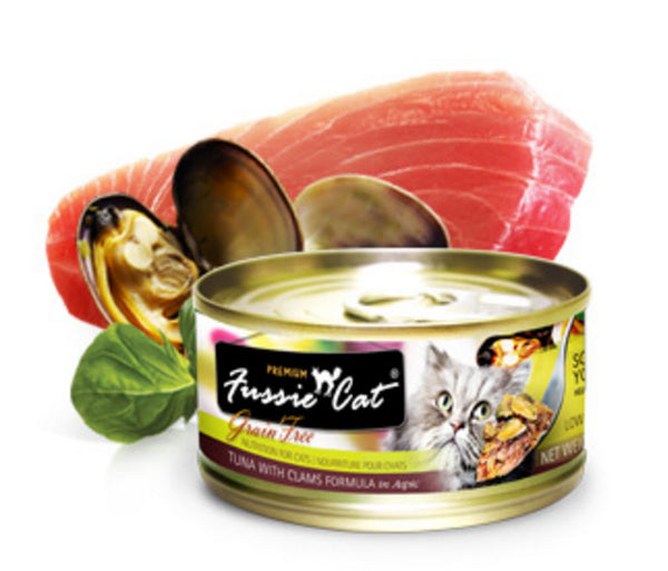 Fussie Cat Premium Tuna with Clam Canned Cat Food