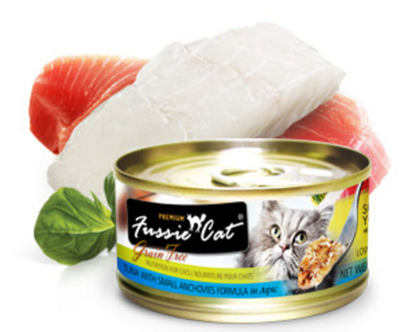 Fussie Cat Premium Tuna With Small Anchovy Canned Cat Food