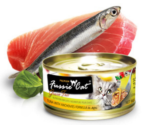 Fussie Cat Premium Tuna With Anchovy Canned Cat Food