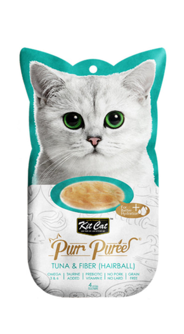 Kit Cat Pure Puree Tuna And Fiber (Hairball Control) Cat Food