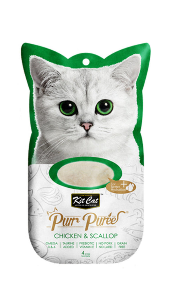 Kit Cat Pure Puree Chicken And Scallop Cat Food