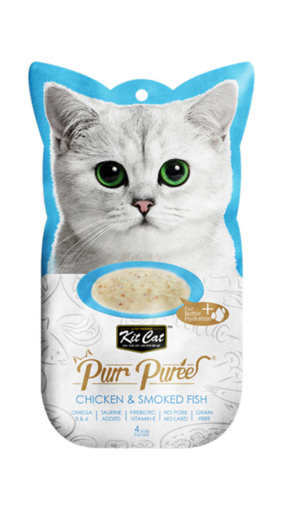 Kit Cat Pure Puree Chicken And Smoked Fish Cat Food