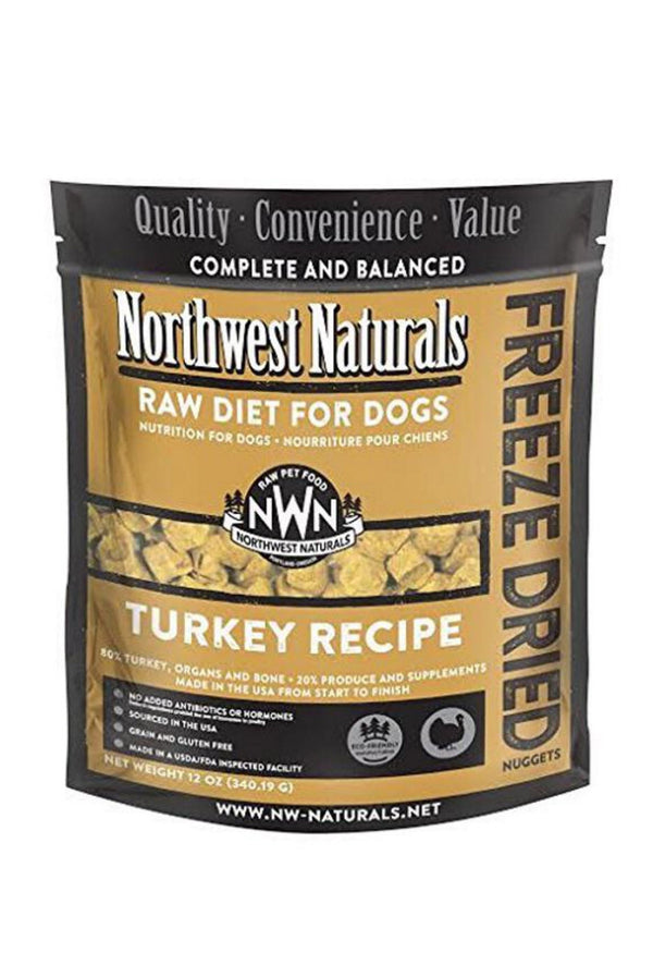 Northwest Freeze Dried Turkey Dog Food (4 for $158.40 Bundle Deal)