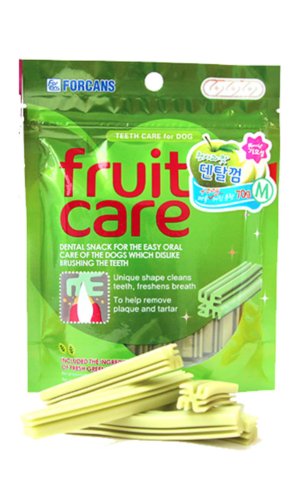 Forcans Fruit Care Green Apple Dental Chew