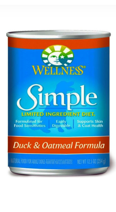 Wellness Simple Food Solutions Duck and Oatmeal Canned Dog Food