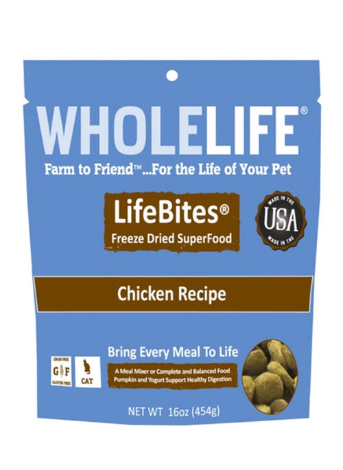 Whole Life LifeBites Freeze Dried Chicken Superfood For Cats