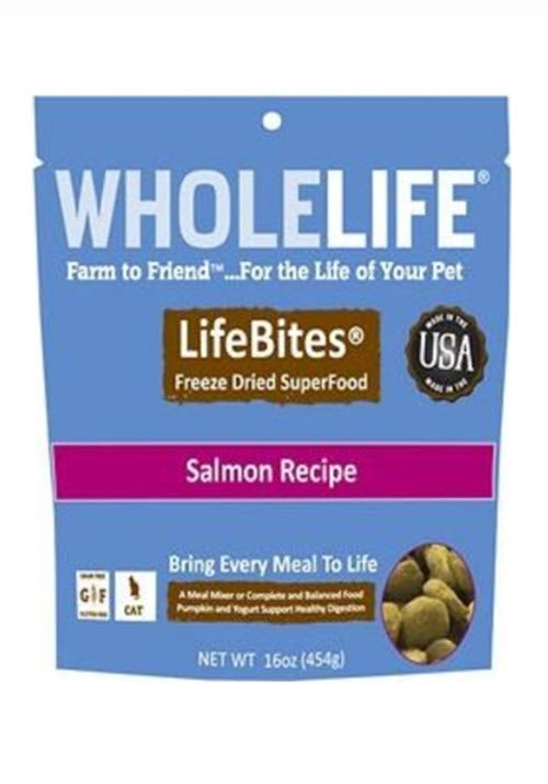 Whole Life LifeBites Freeze Dried Salmon Superfood For Cats
