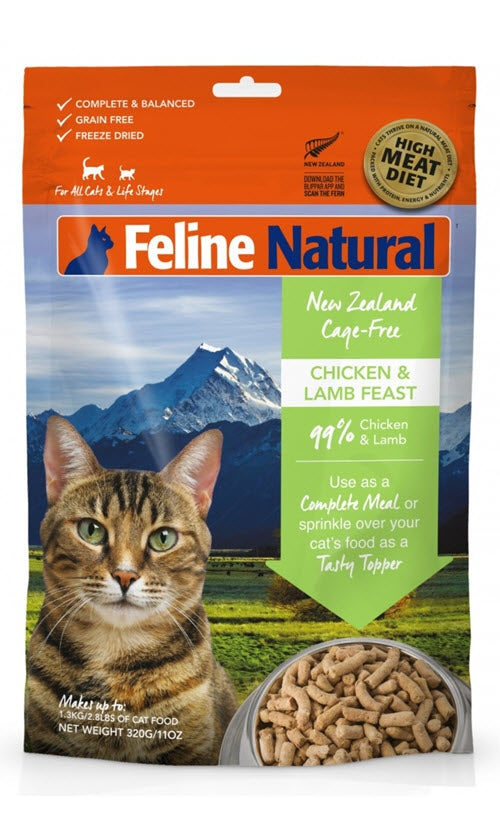 K9 Feline Natural Chicken and Lamb Raw Freeze Dried Cat Food