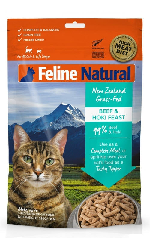 K9 Feline Natural Beef and Hoki Raw Freeze Dried Cat Food