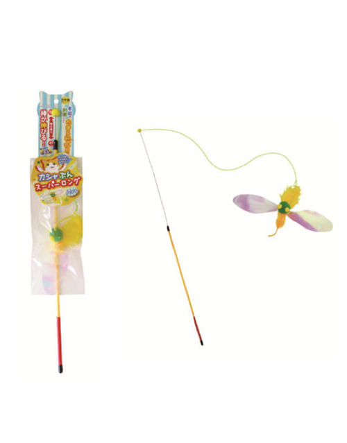 Petz Route Rustling Bird Super Long Stick Cat Toys