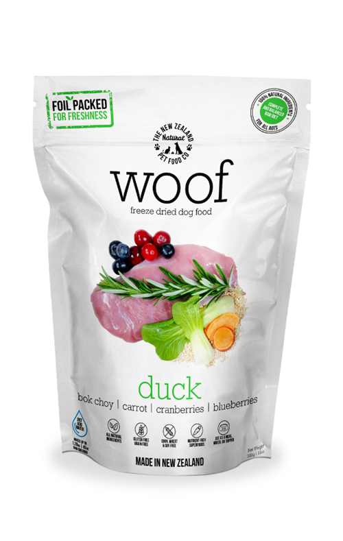 Woof Duck Freeze Dried Raw Dog Food