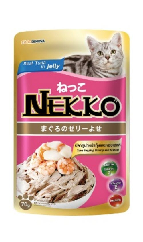 Nekko Tuna With Shrimp & Scallop Cat Pouch