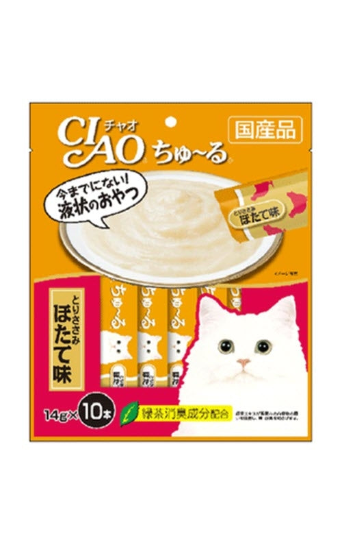 Ciao Churu Chicken Fillet and Scallop Cat Treat