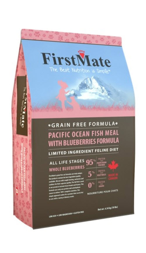 FirstMate Pacific Ocean Fish with Blueberries Dry Cat Food
