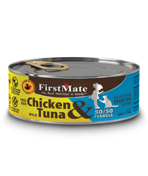FirstMate Free Run Chicken & Wild Tuna Canned Cat Food