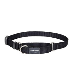 Red Dingo Martingale Half Check Collar in Black