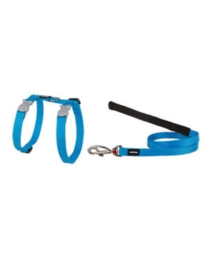 Red Dingo Harness and Lead Combo Classic in Turquoise for Cat
