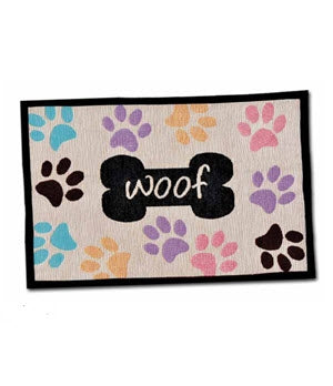 Loving Pets Woof Bone Fashion Dog Mats