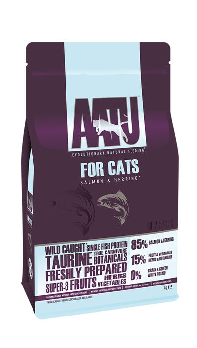 AATU Wild Caught Salmon & Herring Dry Cat Food