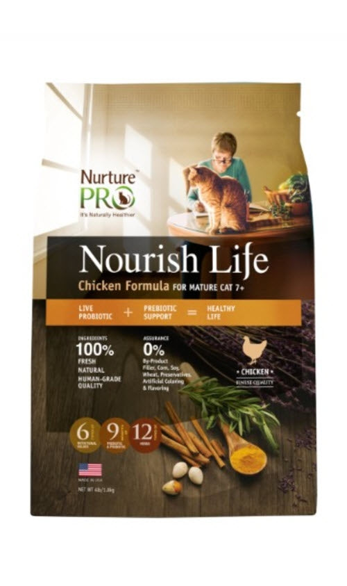 Nurture Pro Nourish Life Chicken Formula For Mature Cat 7+ Cat Food