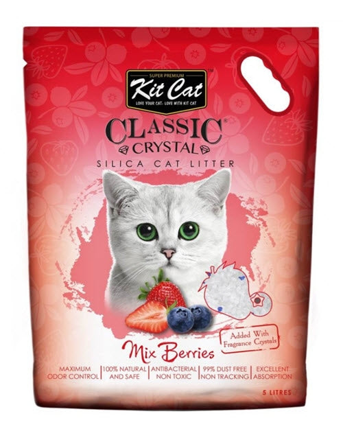 Kit Cat Classic Mix Berries Crystal Litter