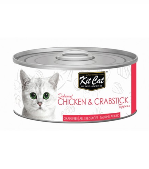 Kit Cat Deboned Chicken & Crabstick Canned Cat Food Toppers