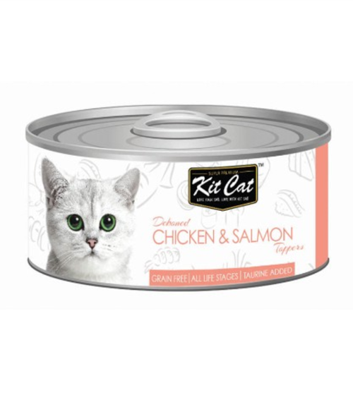 Kit Cat Deboned Chicken & Salmon Canned Cat Food Toppers