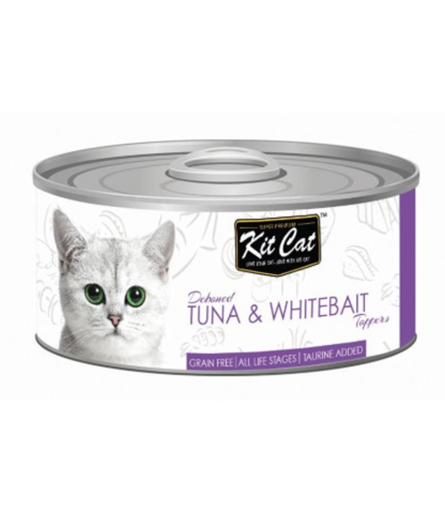Kit Cat Deboned Tuna & Whitebait Canned Cat Food Toppers