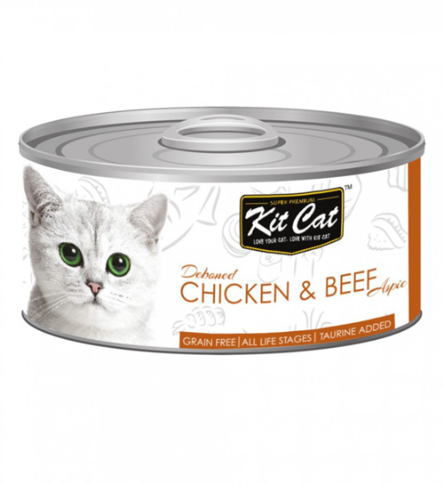 Kit Cat Deboned Chicken & Beef Canned Cat Food Toppers