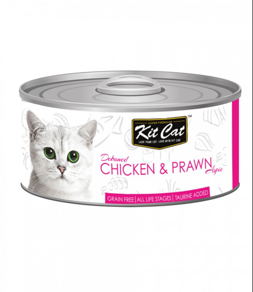 Kit Cat Deboned Chicken & Prawn Canned Cat Food Toppers