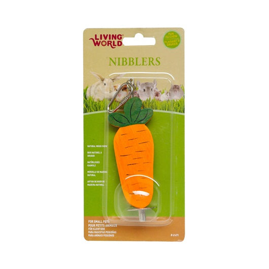 Living World Nibblers Wood Carrot Chews for Rabbits Small Pets