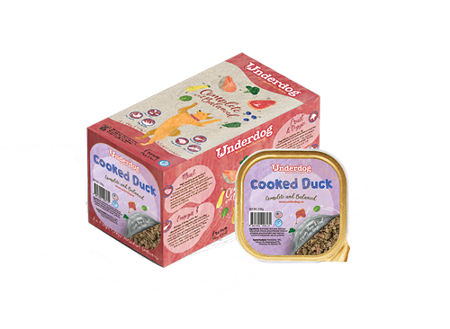 Underdog Cooked Duck Complete & Balanced Frozen Dog Food