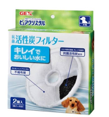 GEX Pure Crystal Filter Replacement with Carbon For Dogs