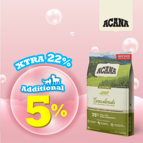 PROMO Extra 22% OFF Plus Free 340g Pack Acana Regionals Grasslands Cat Food