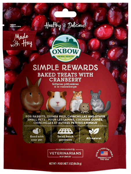 Oxbow Simple Rewards Cranberry Baked Treats For Small Animals