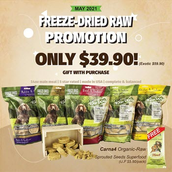 PROMO OC Raw Freeze Dried FREE Flora4 Superfood Supplement