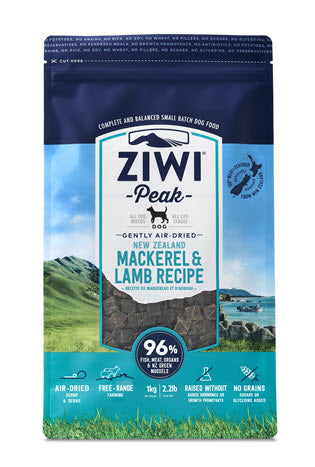 ZiwiPeak Daily Dog Air-Dried Cuisine Mackerel and Lamb Dog Food