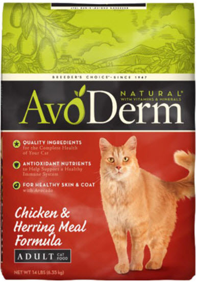 AvoDerm Adult Chicken and Herring Meal Dry Cat Food